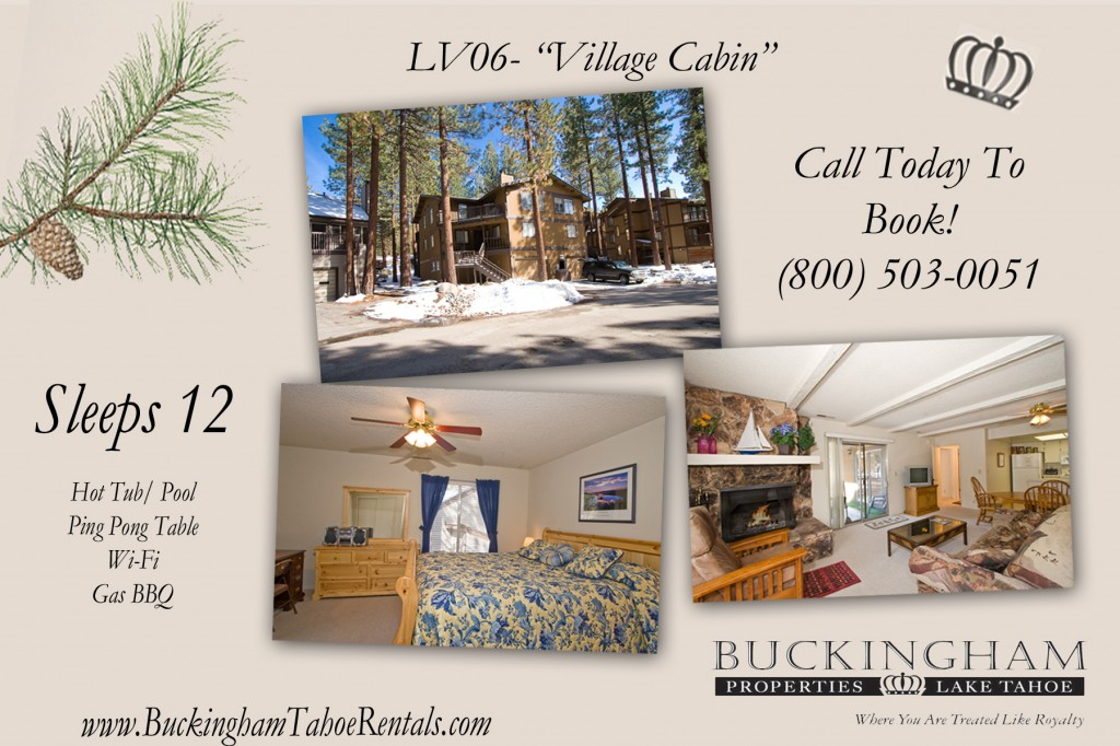 Stay in this South Lake Tahoe Vacation Rental. Live on Vacation in South Lake Tahoe.