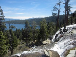 Lower Falls and Emerald Bay